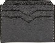 4cc Charcoal Pebbled Leather Card Holder