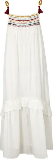 Aira Embroidered Cotton Gauze Dress