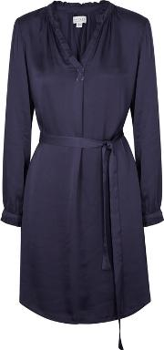 Donna Navy Voile Dress