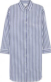 Ivy Striped Cotton Shirt Dress Size S