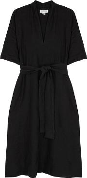 Winley Black Linen Dress