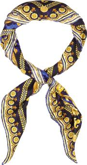 Baroque And Leopard Print Silk Scarf