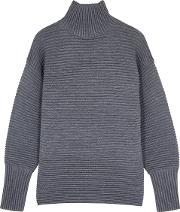 Charcoal Ribbed Wool Jumper