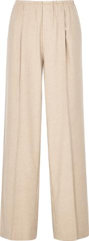 Sand Flannel Trousers