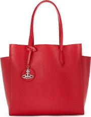 Rachel Red Leather Tote