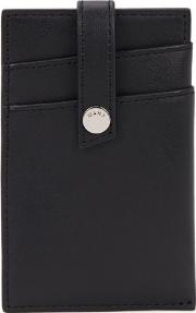 Kennedy Black Leather Card Holder