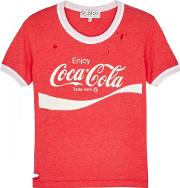 Coca Cola Distressed Jersey T Shirt