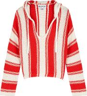 White And Red Knitted Jumper