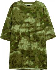 Army Green Camouflage Cotton T Shirt Size M