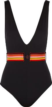 Goldie Black Belted Swimsuit