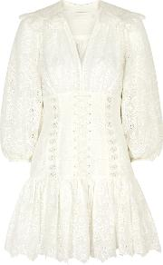 Honour Corset Embroidered Cotton Dress