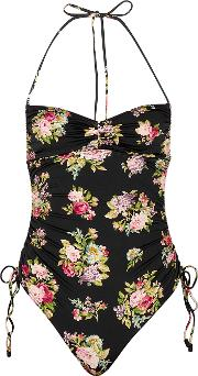 Honour Floral Print Ruched Swimsuit