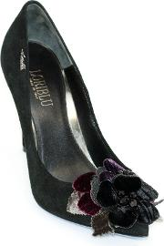 High Suede Court Shoe