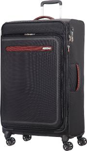 Airbeat 80cm Large Black Suitcase, Black