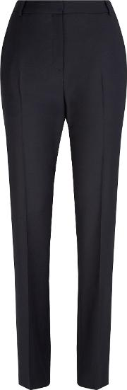 Munday Stretch Wool Trousers, Blue