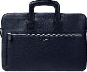 Aspinal Of London Connaught Document Case, Blue