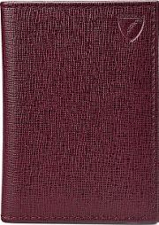Aspinal Of London Double Credit Card Case, Red
