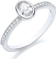 Stacker Ring Oval, Silver