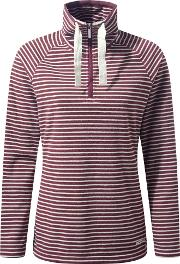 Rhonda Half Zip Fleece, Red