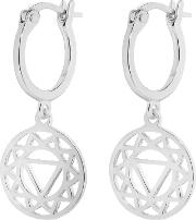 Echk1003 Ladies Earrings, Silver
