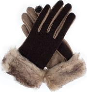 Dents Dents Womens Contrast Palm Gloves, Brown
