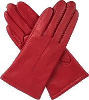 Dents Womens Classic Leather Gloves, Berry