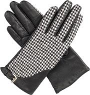 Womens Gloves With Touchscreen Leather, Black