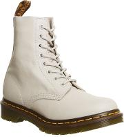 Dr. Martens 8 Eyelet Lace Up Boots, White