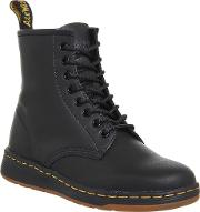 Dr. Martens Newton 8 Eye Boots, Black Leather