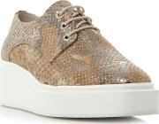 Flawless Square Toe Lace Up Trainers, Natural
