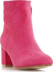 Orsen Classic Leather Ankle Boots, Pink