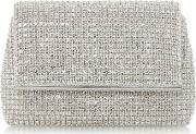 Everlina Diamante Clutch Bag, Silver