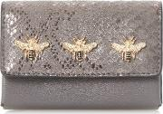 Kimbug Embellished Flap Over Purse, Grey