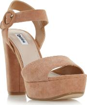 Monacco Platform Sandals, Brown