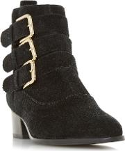 Polo Buckle Western Ankle Boots