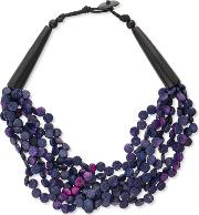 Glitzy Shell And Link Necklace, Pink
