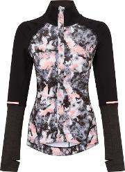 Pleated Raglan Jacket With Extended Cuff, Multi Bright