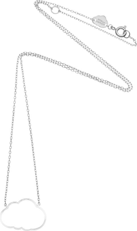 Seb1483 Cloud Necklace, Silver Metallic