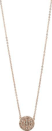 Jf00139791 Ladies Rose Iconic Glitz Necklace, Rose