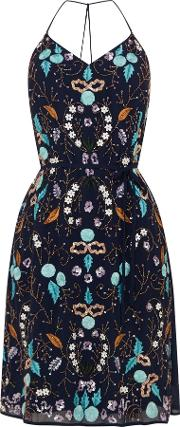 Embellished Sequin Dress, Blue