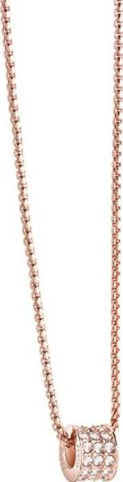 G Rounds Necklace, Rose Gold
