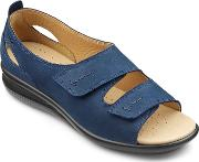 Florence Extra Wide Sandals, Navy