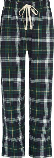 Men's  Bold Check Brushed Cotton Pj Pant, Blue