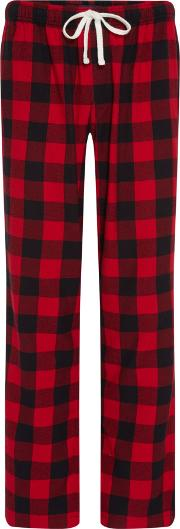 Men's  Buffalo Check Brushed Cotton Pj Pant, Red