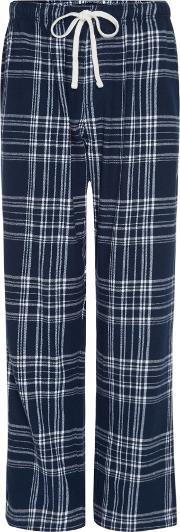 Men's  Over Check Pj Pant, Blue