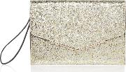Envelope Wristlet Clutch Bag, Gold
