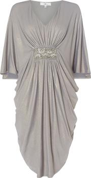 Jasmine Embellished Batwing Dress, Silverlic