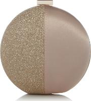 Round Clutch Bag, Gold