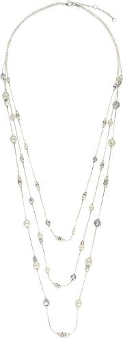 Jacques Vert Pearl Long Rope Necklace, White