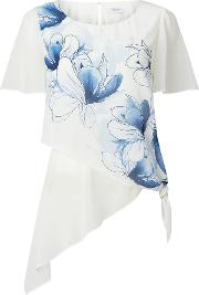 Jacques Vert Printed Soft Tie Top, Multi Coloured